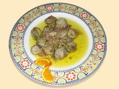 Corazones de alcachofas al vino de Moriles - La Cocina Andaluza