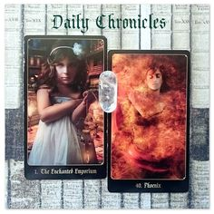 #dailychronicles for March 7th.  Discoveries will be made today that bring you higher awareness in regards to your past this allows you to move forward feeling reborn and with greater clarity.  These cards can also represent a second chance to rejoin a learning sphere (formal or informal) to develop your skills; your thirst for knowledge is resurrected   #chroniclesofdestiny #fortunecards #cartomancy #divination #tarot #tarotcards #oraclecards #guidance #dailycard #enchantedemporium #phoenix…