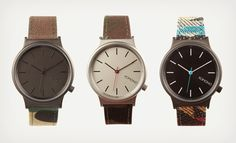 Simplicity is the most important design component:  Komono Wizard Print Watches | Cool Material
