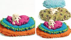 This dog bed craft is one I really want to try! 40 Genius No-Sew DIY Projects | Brit + Co.