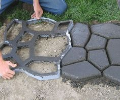 Create a storybook pathway in your garden or backyard with help from the cobblestone forming mold. This great DIY tool is great for all skill levels and easily makes 2′ x 2′ squares of cobblestone pathway in minutes so you can complete the path in a day or less!