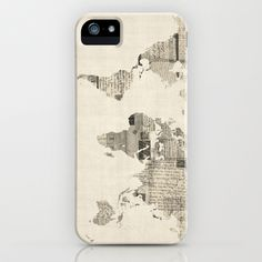 Map of the World Map from Old Postcards Galaxy S5 Case by ArtPause - $35.00