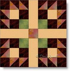 Best Friends quilt block image © Wendy Russell