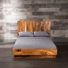 Falling into dreams is easy thanks to this suar bed that is handmade in Thailand. Its straight lines and high headboard showcase the wood's unique characteristics. Discover more unique beds and other treasures at www.artemano.ca
