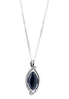Parure chaîne et pendentif argent avec imitation pierres précieuses noir et zirconium blanc #bijoux #boucles #bijouterie #jeandelatour_officiel #bijoutier #bijouxfemme #bijouxcreateur #mode #collier