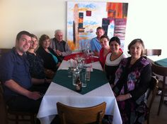 L to R, clockwise: yours truly, Renee, Aunty Denise, Uncle David, Matt, Amanda, Cousin Jennifer, and Marion, at Gundel's Restaurant, Rose Bay, NSW. Our engagement celebration. 7 April 2013.