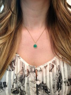 Emerald Green Necklace by elladolce on Etsy, $26.50