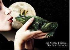 kiss a frog....just to see what happens..