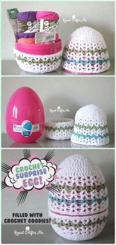 Crochet Giant Surprise Egg Free Pattern - Crochet Easter Egg Ideas Free Patterns