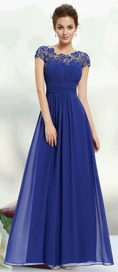 Gorgeous  blue prom dress