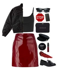 """Stop"" by mode-222 ❤ liked on Polyvore featuring Manokhi, Topshop, Kate Spade, Apple, By Terry, Everlane and MAC Cosmetics"