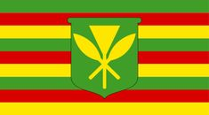 Flag of the Kingdom of Hawaii or Kanaka Maoli Flag