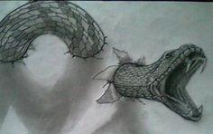 como dibujar una serpiente en 3d…