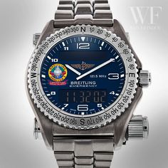 Pre-owned Limited Edition Breitling Emergency Gents Quartz watch. Breitling Superocean Heritage, Breitling Navitimer, Breitling Watches, Amazing Watches, Cool Watches, Watches For Men, Breitling Emergency Watch, Car Interior Upholstery, Distress Signal