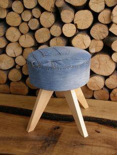 Stołek Jeans (proj. KKopeć), do kupienia w DecoBazaar.com