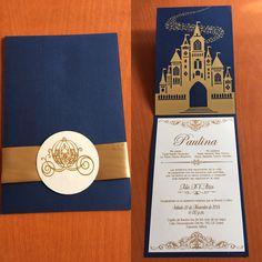 Quince Invitations, Wedding Invitations, Cinderella Quinceanera Themes, Royal Invitation, Ideas Para Fiestas, 25th Anniversary, 5th Birthday, Wedding Cards, Party Themes