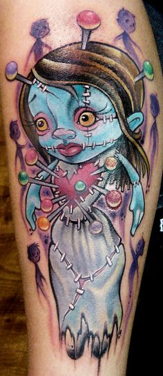 Jime Litwalk tattoo | Flickr - Photo Sharing!   Found in the monster hardcover art book:    Color Tattoo Art: Comics. Cartoon. Pin-Up. Manga. New School.