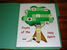 Fruits of the Holy Spirit (file folder game) free to print!