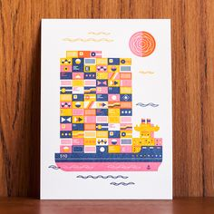 Richard Perez for Oakland Illustrated: A letterpress collaboration by The Weekend Press.