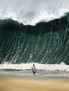 Extreme wave watching in Brazil.....does this qualify as a new sport? It may not go over so well....