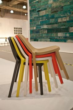The Broom Chairs designed by Philippe Starck for Emeco are stackable!