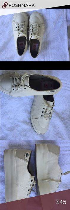 Lacoste Women Sneakers Thick heel worn once size 7.5 . Very comfortable shoes Lacoste Shoes Sneakers