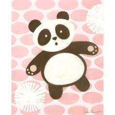 Nursery -Wall Art--Oopsy Daisy Canvas Wall Art Thai Panda Pink-|Find|Buy|Shop|Compare|LollipopMoon.com only $45.00 - Art For Girls