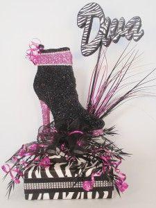 High-heel-shoe-boot-diva-zebra-centerpiece