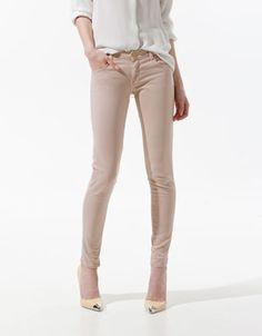 COATED TROUSERS WITH ZIPS - Trousers - Woman - ZARA United States ...