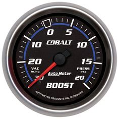 "2-5/8"" BOOST-VAC, 30 IN. HG/20 PSI, MECH, COBALT for monitoring the blower on the truck."