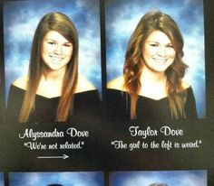 10 Hilarious Twins In Yearbooks (yearbook, senior quote, twins) - ODDEE