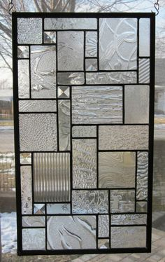 Details about Star Dust Stained Glass Window Panel EBSQ Artist Transom Sidelight Valance - Glass Art