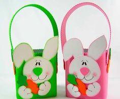 Reutilize as caixinhas de leite que tem em casa e faça lindas cestas de Páscoa :) #páscoa #diy #caixadeleite