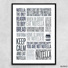 Plakat - Citatcollage - Nutella, colors