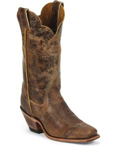 d3beaaa084f Justin Bent Rail Crackle Cowgirl Boots - Square Toe - Country Outfitter Cowboy  Boots