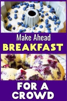 Stress free breakfast ideas for a crowd - easy make ahead brunch food recipes that are cheap, simple and FAST for a large group Brunch Ideas For A Crowd, Make Ahead Brunch, Breakfast For A Crowd, Food For A Crowd, Free Breakfast, Group Breakfast, Fast Breakfast Ideas, Breakfast Time, Dinner Ideas