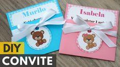 Convite de aniversário ou chá de bebê de ursinhos  DIY - Faça você mesmo