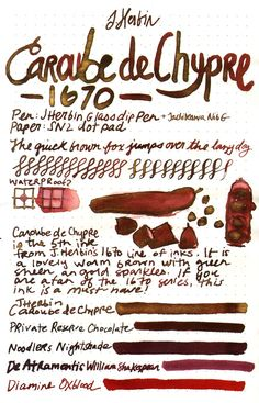 J.Herbin Caroube de Chypre is unlike any other ink! The beautiful brown color with gold shimmer is perfect to use all year round. Pin this ink review to reference later.