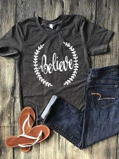 Believe Shirt, IVF shirt, infertility shirt, IUI shirt, egg retrieval shirt, transfer shirt, IVF mom shirt, ttc shirt, infertility awareness by LottieandCo on Etsy