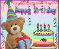 Cake Bear Teddy Present Happy Birthday Icon Icons Emoticon Emoticons Animated Animation Animations Gif Gifs photo HBTeddyStreamersParty. Happy Birthday Emoticon, Happy Birthday Icons, Birthday Wishes Gif, Happy 2nd Birthday, Belated Birthday, Birthday Greetings, Cupcake Birthday, Birthday Parties, My Birthday Pictures