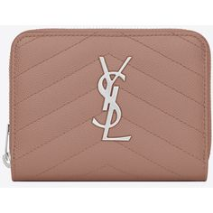 c95c8b0d216c Monogram Saint Laurent Compact Zip Around Wallet ( 560) ❤ liked on Polyvore  featuring bags