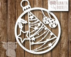 Items similar to Christmas Tree Commercial paper cut template on Etsy