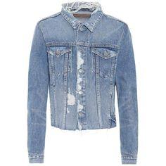 Grlfrnd Cara Denim Jacket ($355) ❤ liked on Polyvore featuring outerwear, jackets, blue, blue jackets, blue jean jacket, blue denim jacket, denim jacket and jean jackets