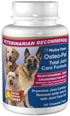 OsteoPet Total Joint Care for Dogs  Glucosamine Chondroitin MSM Hyaluronic Acid Boswellia and more  60 Chewtable Treats >>> Check this awesome product by going to the link at the image.Note:It is affiliate link to Amazon.