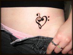 Music Heart Tattoo