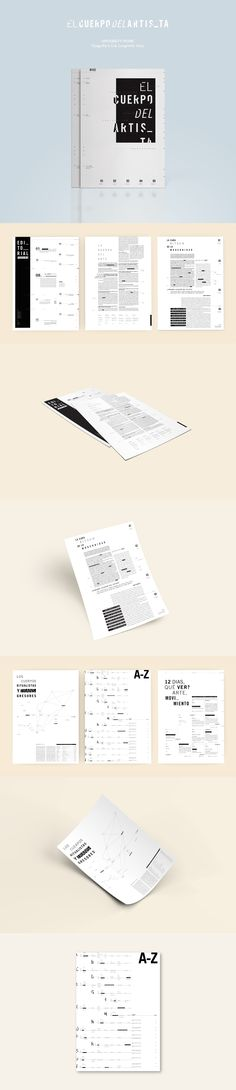 el cuerpo del artista / editorial design on Behance