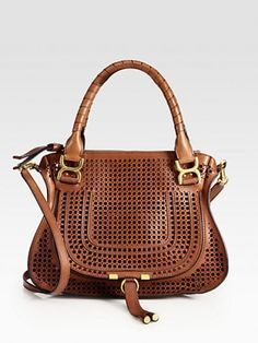 Marcie Medium Perforated Leather Shoulder Bag Chloé