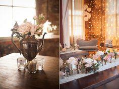 vintage inspired reception - photo by Zaugh Photography http://ruffledblog.com/huron-substation-wedding
