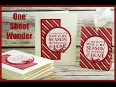 One Sheet Wonder - Featuring Cozy Christmas Stamp Set - YouTube