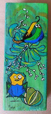 Marja's Stamp Addiction: Crazy Birds